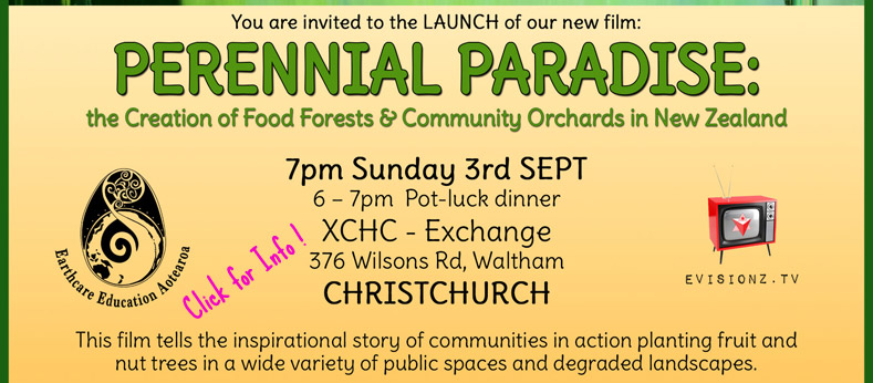 perrenial paradise launch poster CHCH